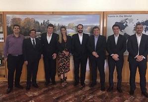 Executivos do SETCESP visitam a SCANIA