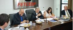 Diretoria da FETCESP se reúne em São Paulo para debater problemas do setor