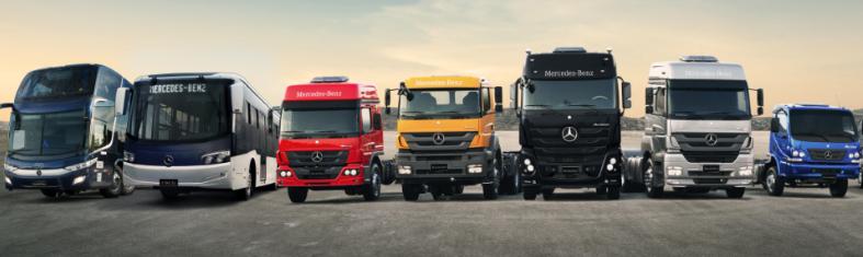 Vendas de caminhões Mercedes-Benz crescem 54% na região Sul