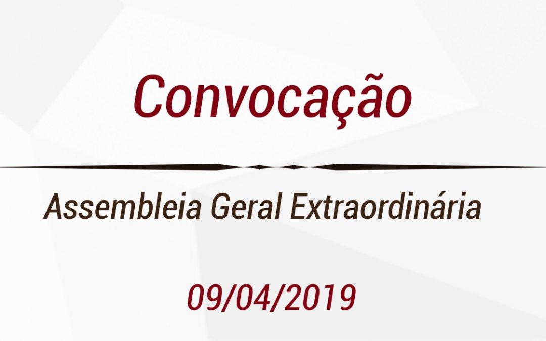 Edital de Convocação de Assembleia Geral Extraordinária