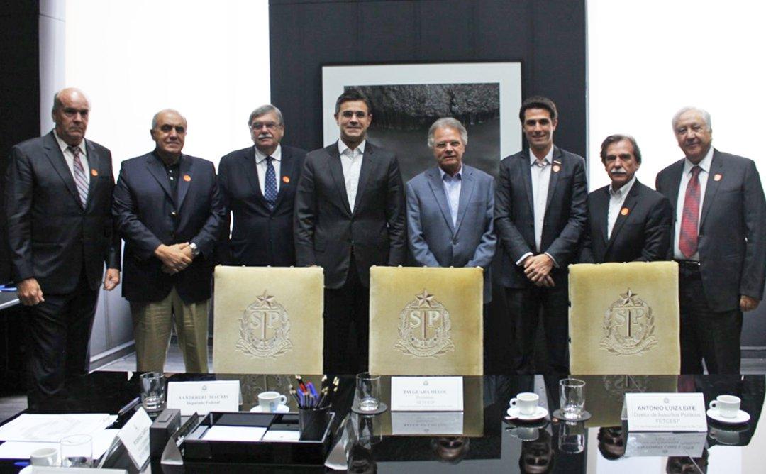 Tayguara Helou discute novas concessões de rodovias com o vice-governador de São Paulo