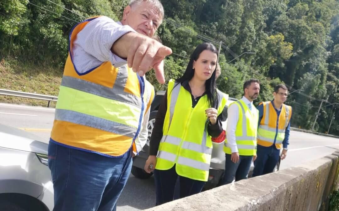 Visita a concessionária e vistoria de obras em rodovia