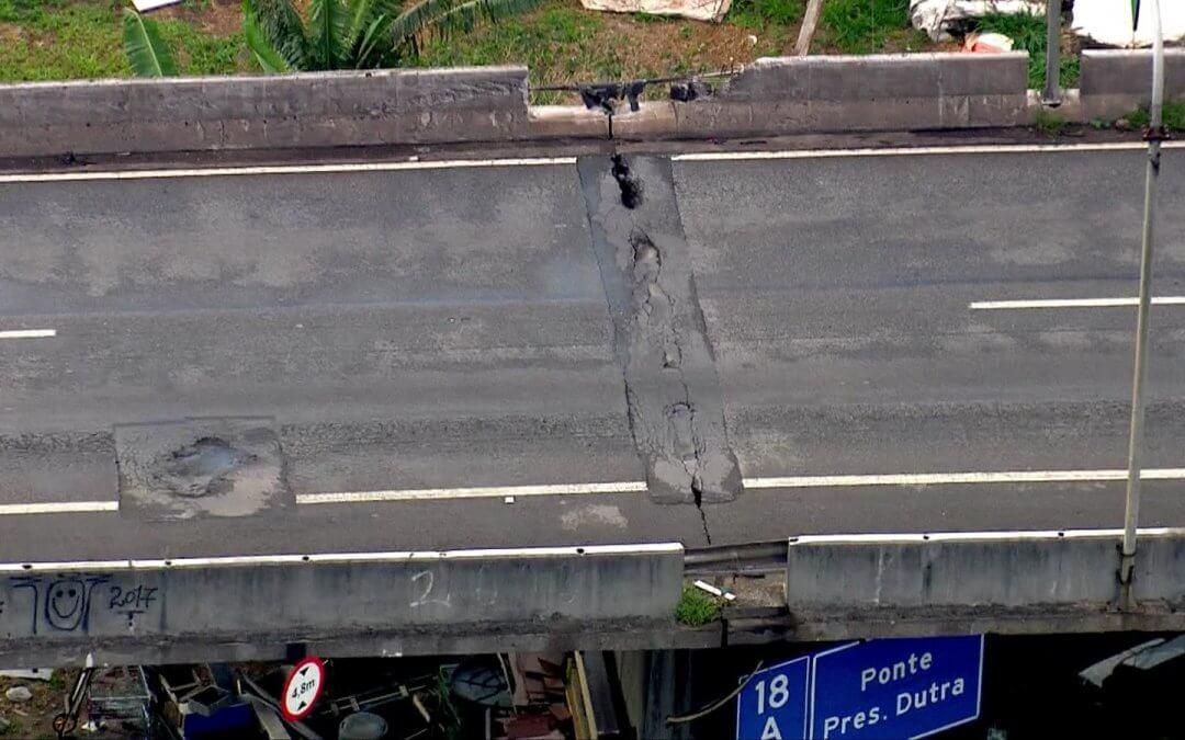 Ponte de acesso à Dutra interditada na Marginal Tietê só será reaberta no fim de junho