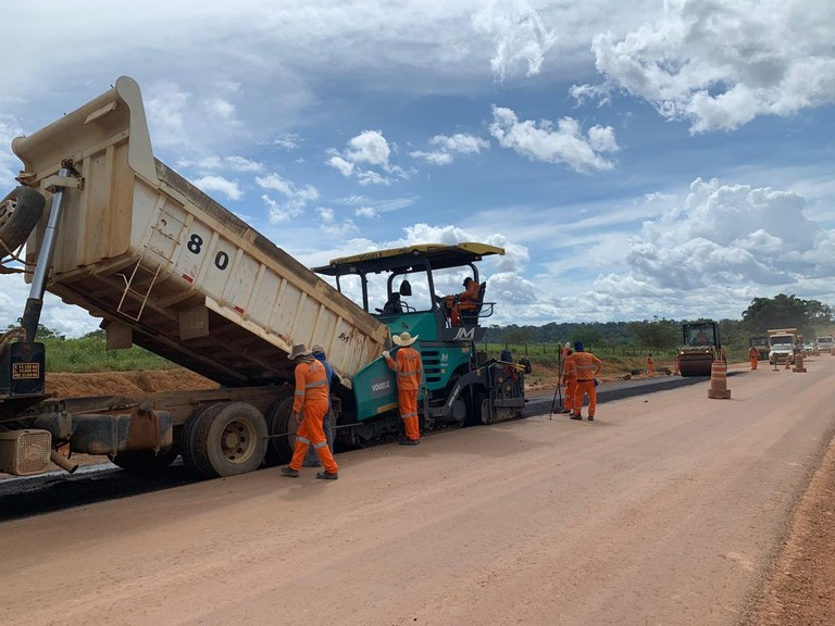 DNIT retoma pavimentação dos últimos 50 km que restam ser asfaltados na BR-163/PA