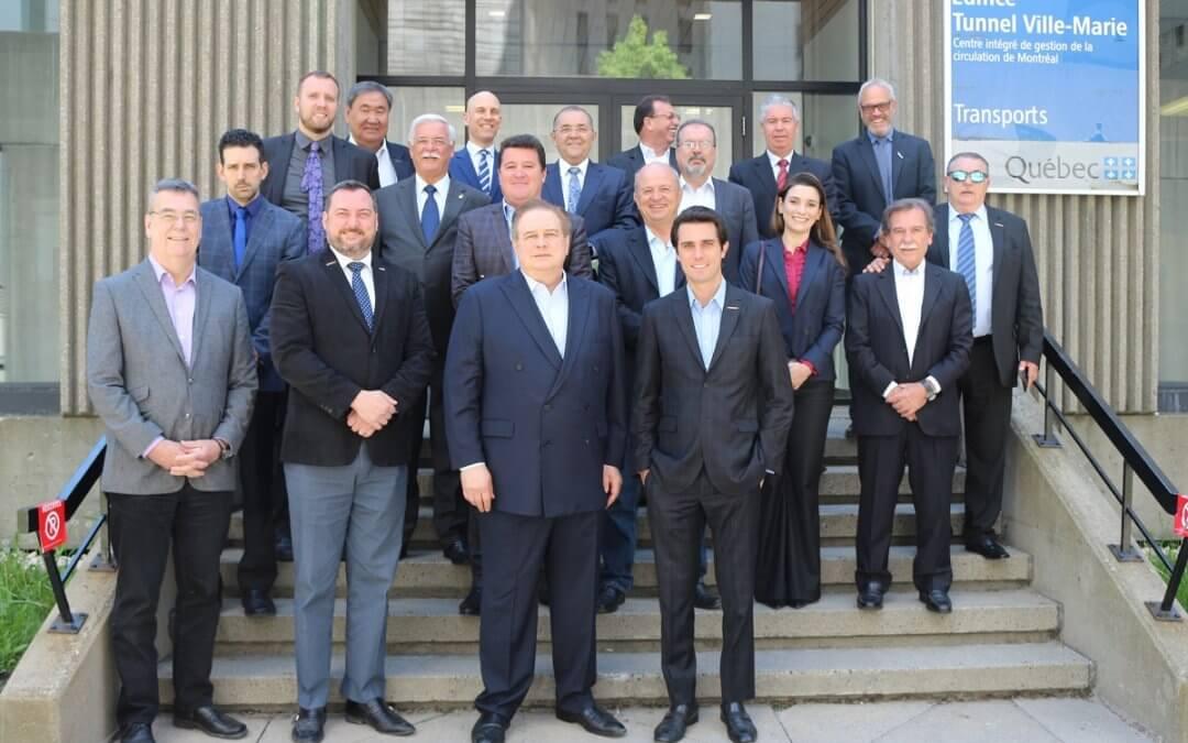 Equipe do SETCESP reúne-se com a Associação das Empresas de Transporte de Québec