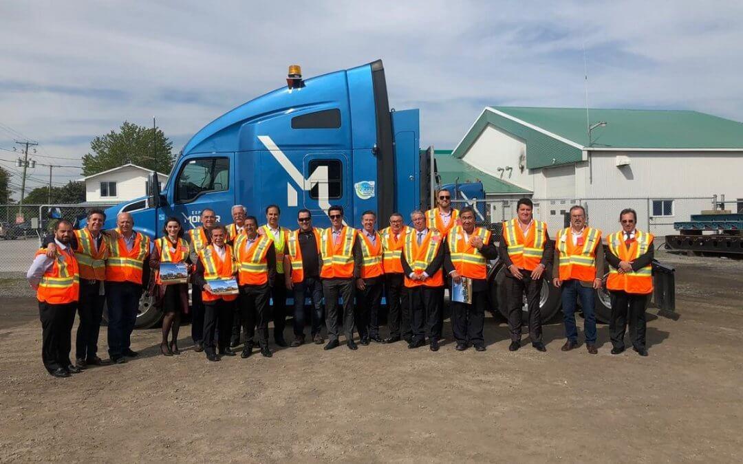 SETCESP visita empresa de veículos pesados em Montreal