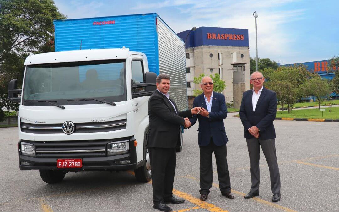 Braspress realiza teste com caminhão VW automatizado