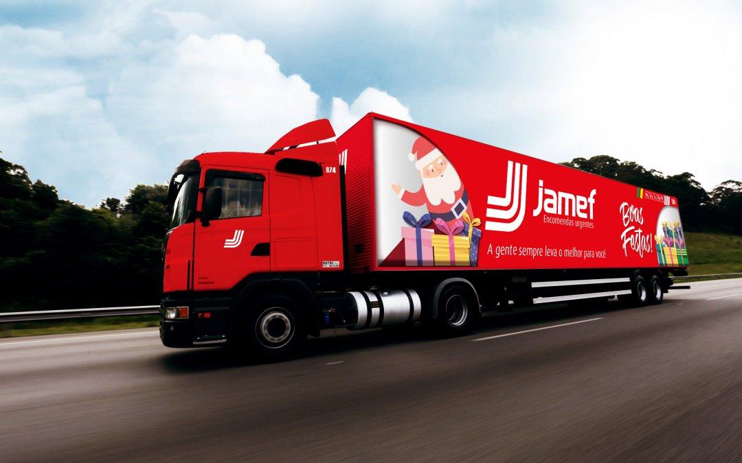 Jamef leva espírito natalino para as estradas do Brasil