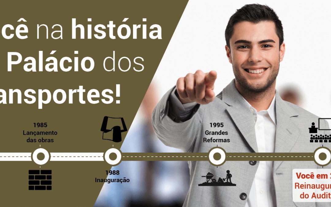 Faça parte da história do Palácio dos Transportes