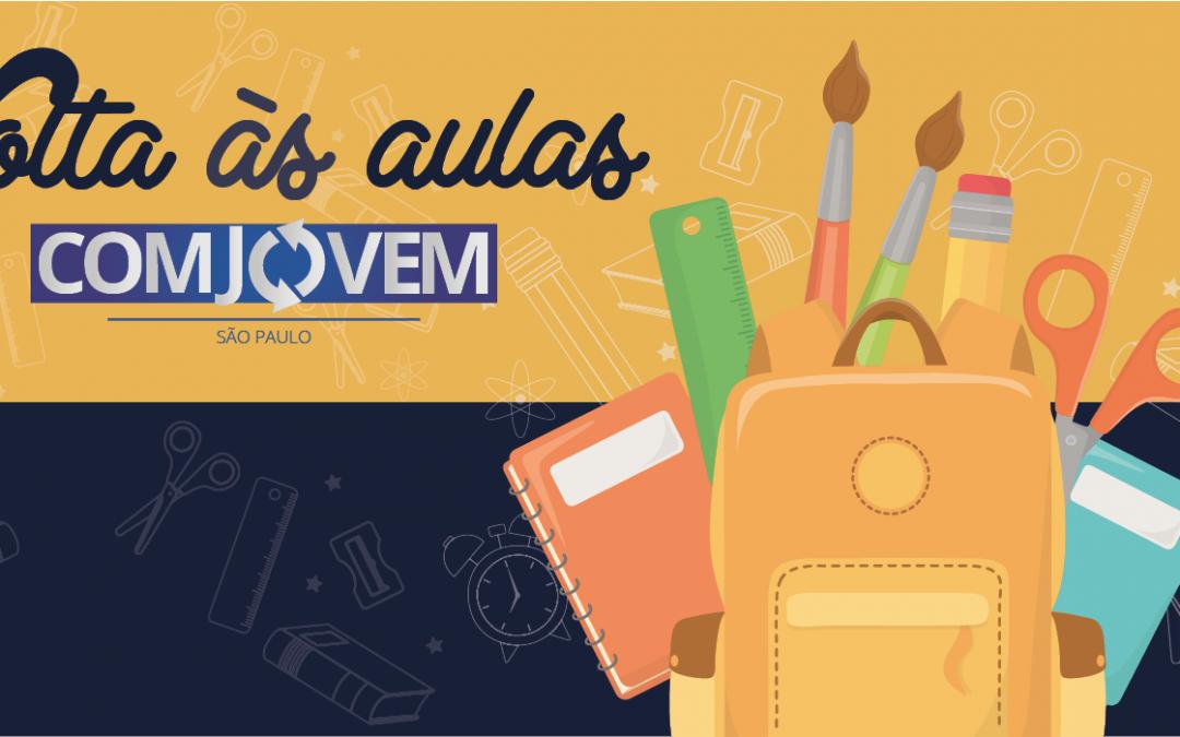 COMJOVEM SP realiza nova campanha de volta às aulas