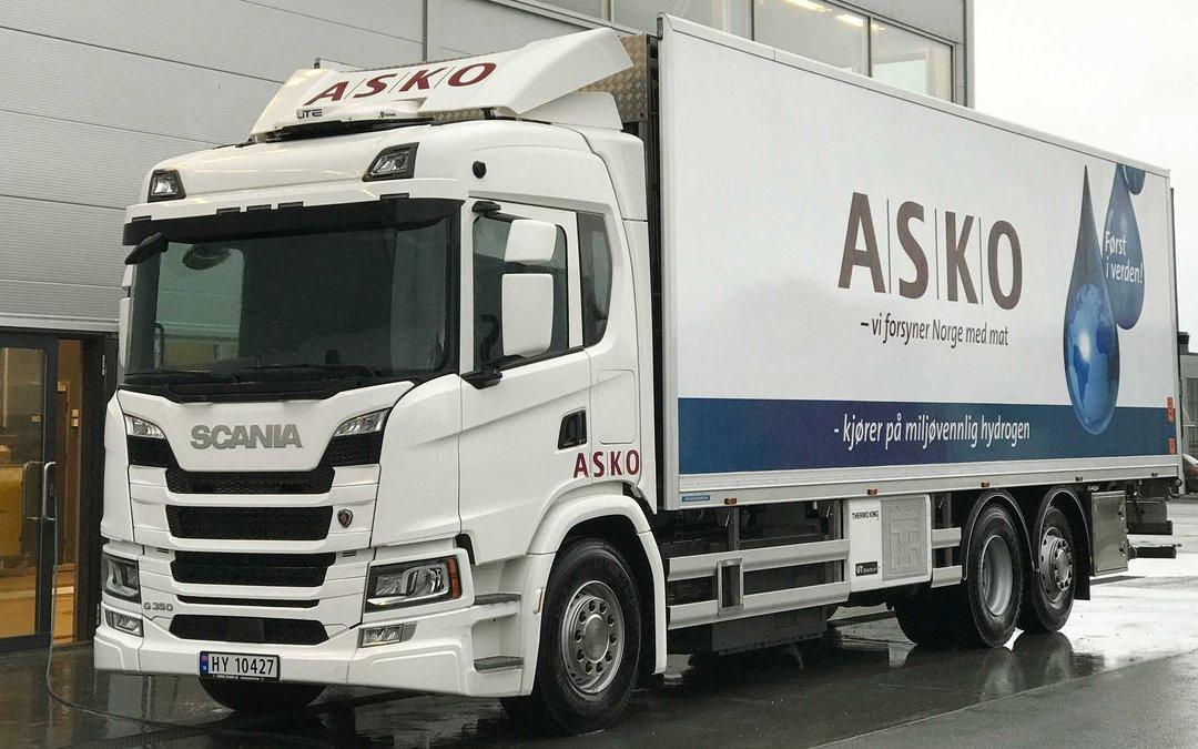 Scania testa caminhão a célula a hidrogênio