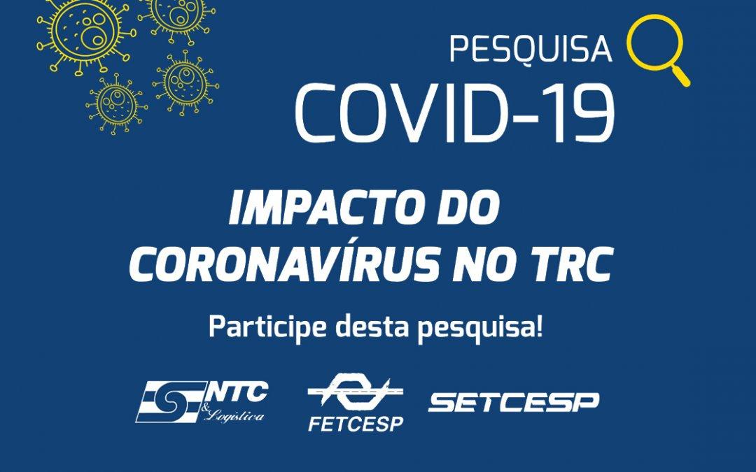 Responda a pesquisa: Impacto do coronavírus (Covid-19) no TRC