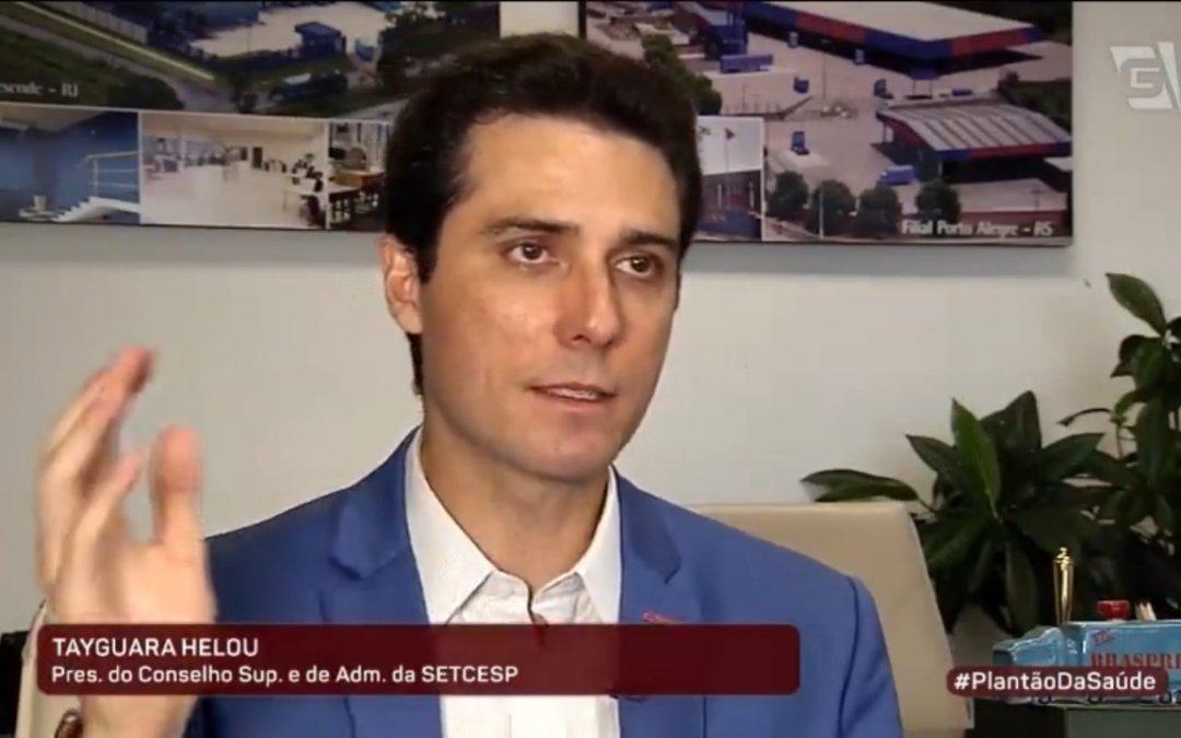 """""""Setor não pode parar"""", afirma presidente do SETCESP à TV Gazeta"""
