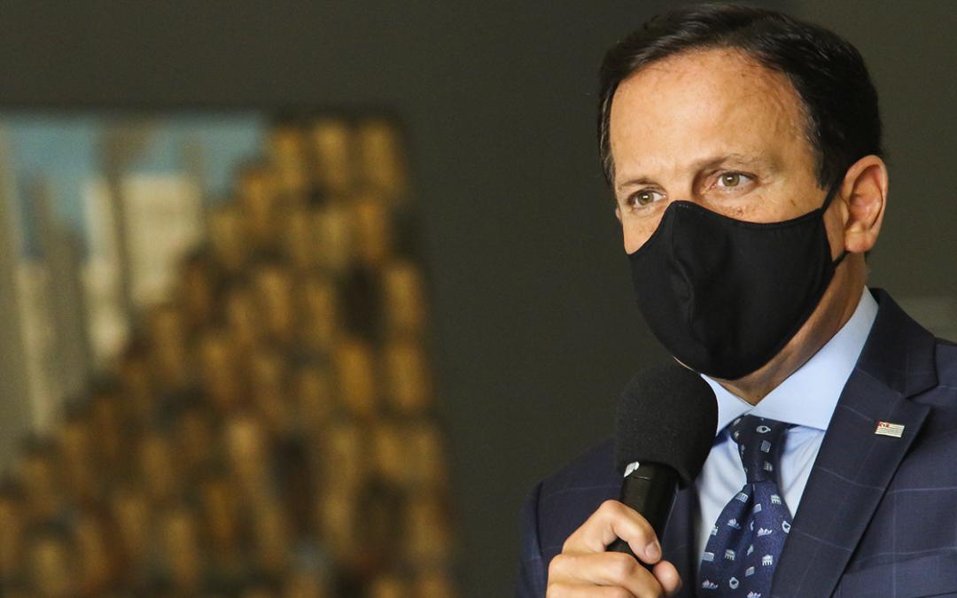 Doria apresenta plano de retomada econômica de São Paulo