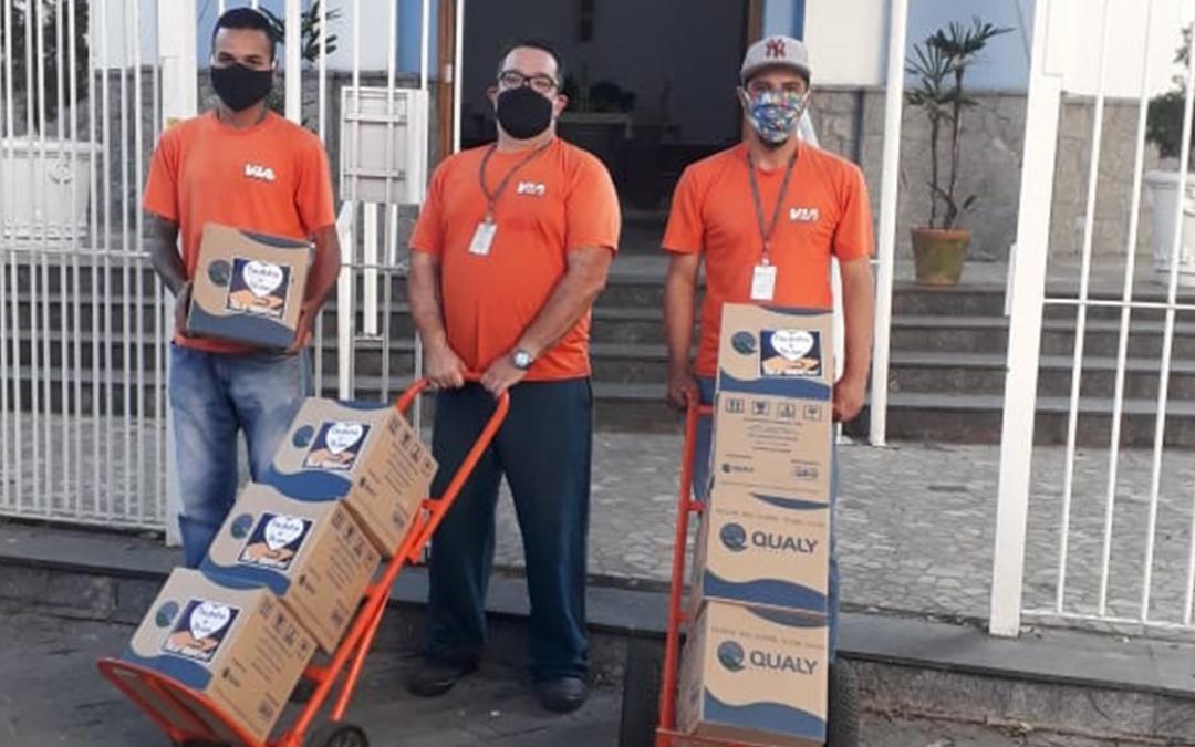 TRC Solidário: Via Expressa leva 'o cuidado' refletido em doações