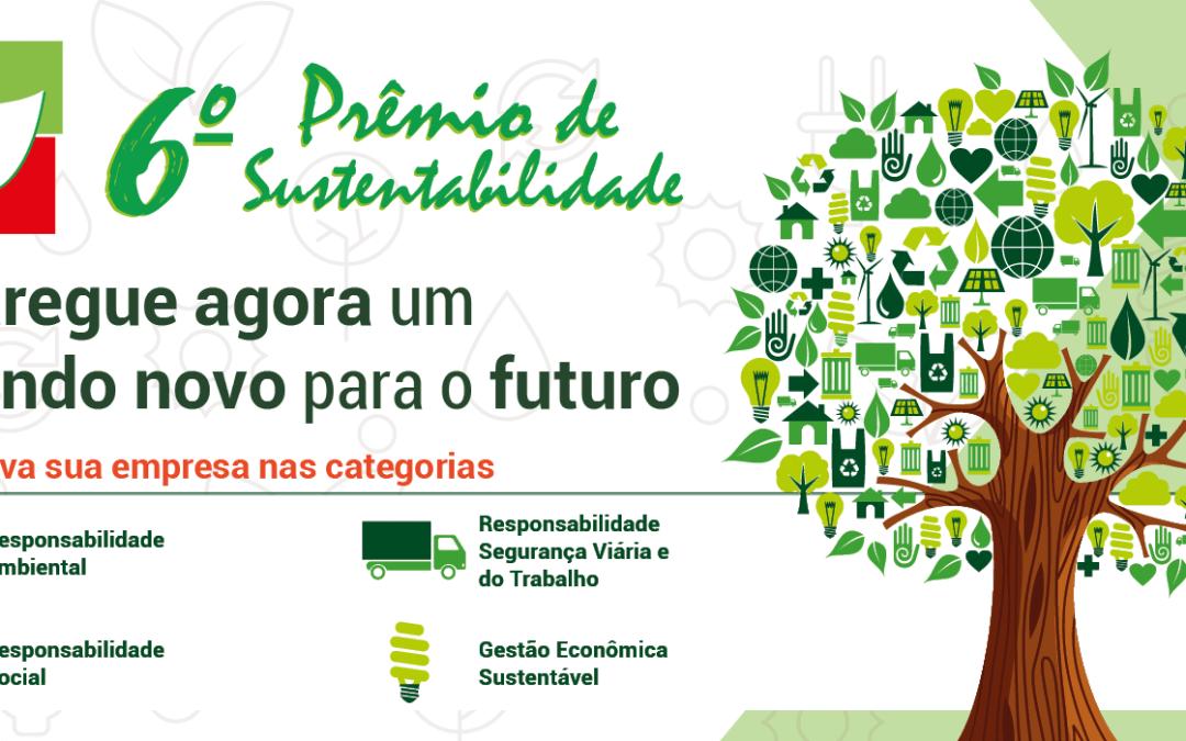 Abertas as inscrições para o 6º Prêmio de Sustentabilidade