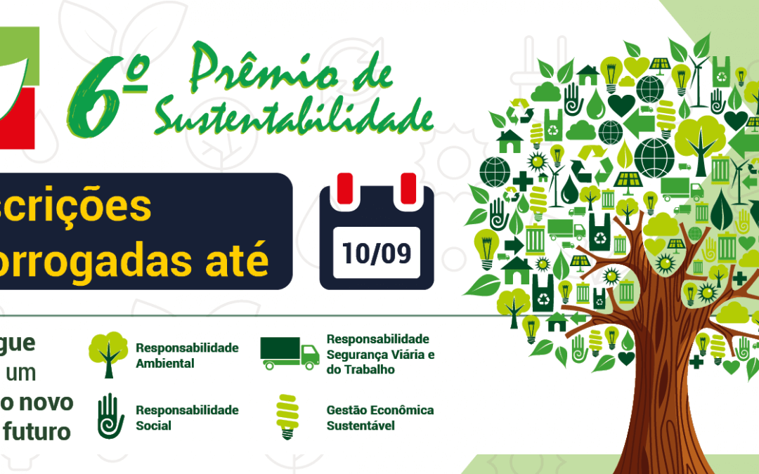 Já se inscreveu no 6º Prêmio de Sustentabilidade?