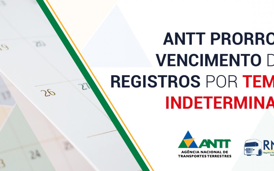 Vencimento do RNTRC é prorrogado por tempo indeterminado pela ANTT