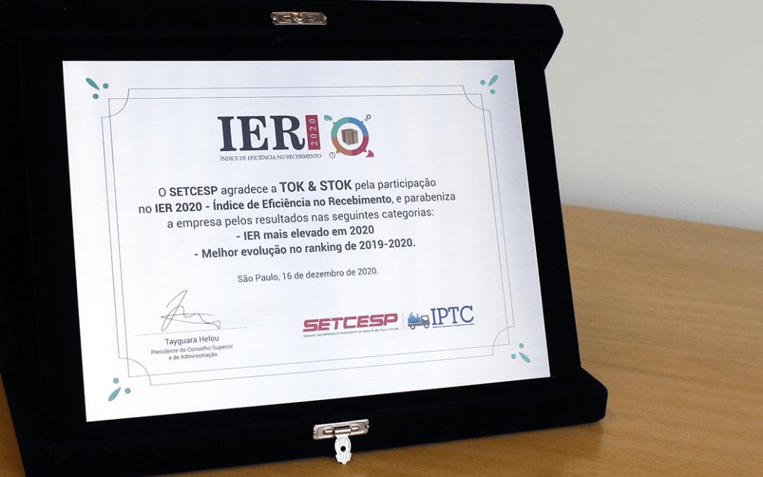 SETCESP premia Tok&Stok pelo melhor Índice de Eficiência no Recebimento