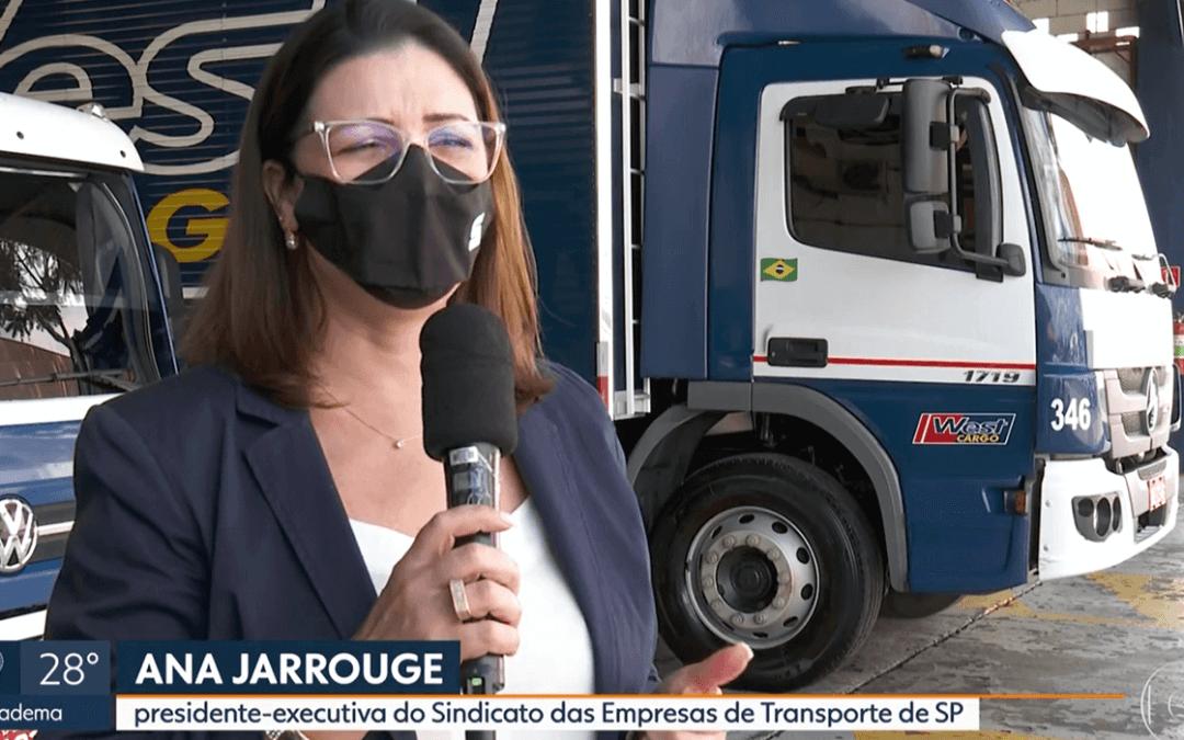Presidente executiva do SETCESP fala sobre os preparativos para o transporte da vacina contra a Covid-19 na TV Globo