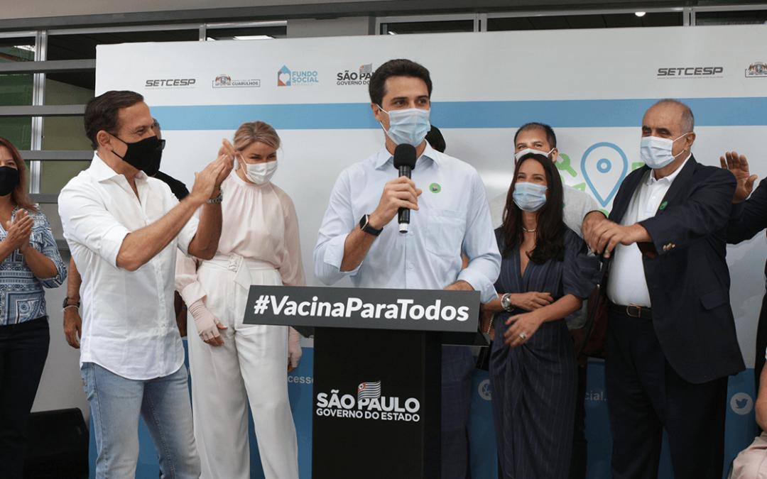Empresários do TRC e Governo de SP inauguram Praça da Cidadania em Guarulhos