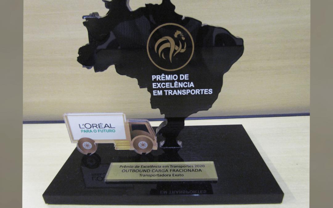 Exato Transportes Urgentes é reconhecida em premiação da L'Oréal Brasil