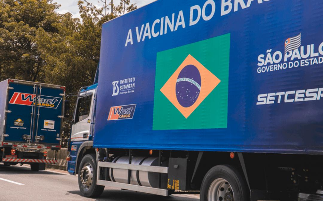 TRC entrega nesta semana mais 5 milhões de doses da vacina do Butantan ao Brasil