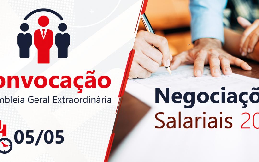 Assembleia Geral Extraordinária: Negociações Salariais 2021