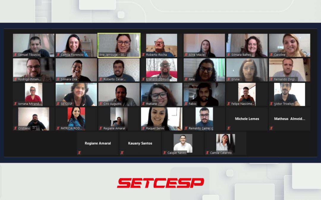 Time do SETCESP se reúne para traçar estratégias de abril