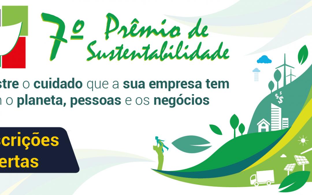 Inscreva sua empresa no 7º Prêmio de Sustentabilidade