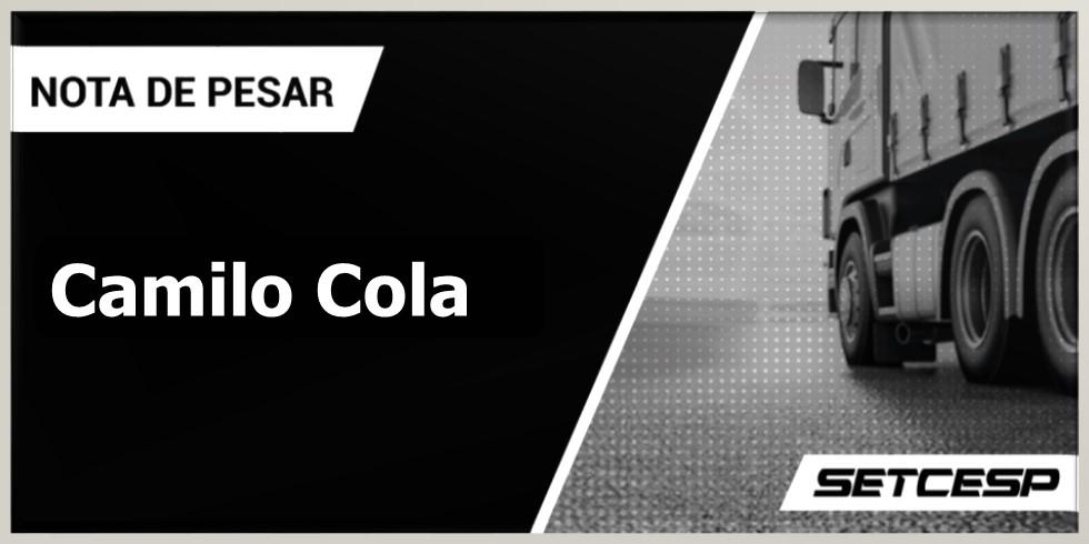 Nota de pesar ao falecimento de Camilo Cola