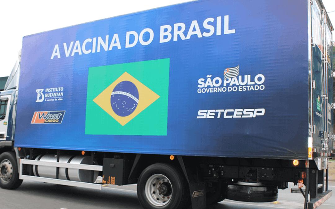 SP inicia entrega de vacinas do Butantan do novo contrato de 54 mi de doses ao Brasil