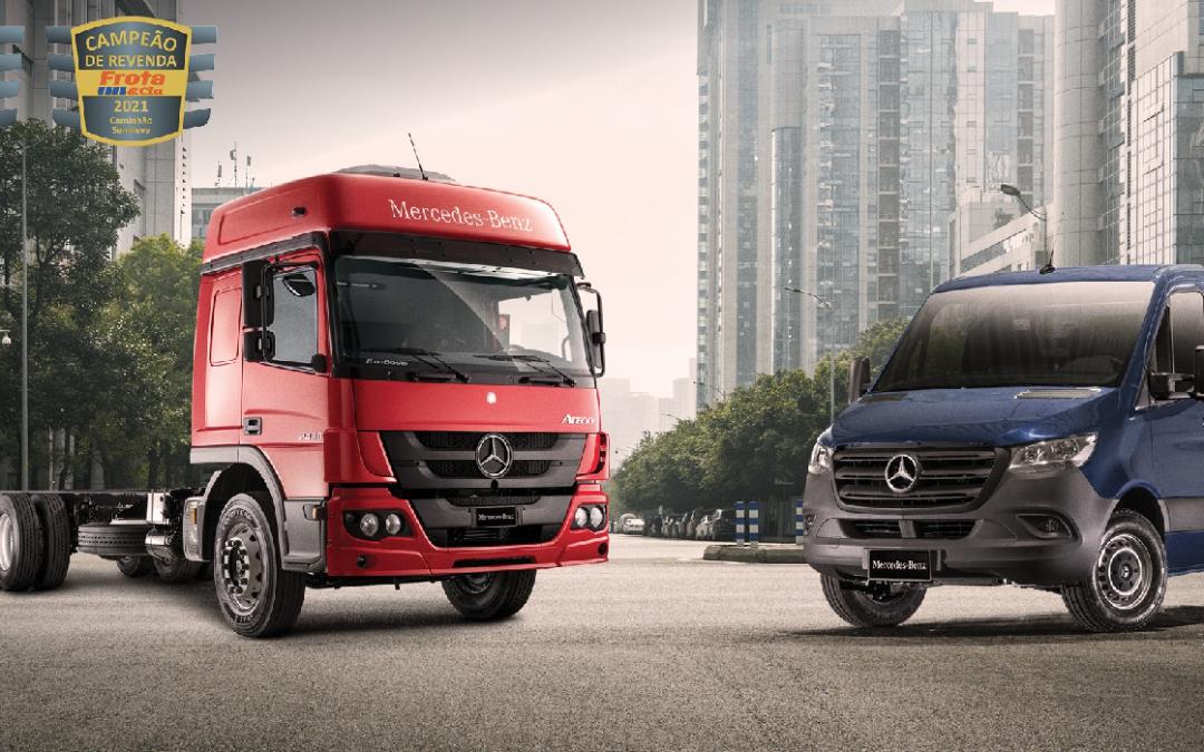 Atego e Sprinter da Mercedes-Benz são eleitos campeões de revenda