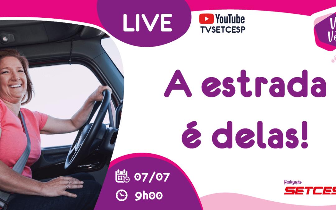 A estrada é delas: movimento Vez e Voz promove live sobre mulheres motoristas no TRC
