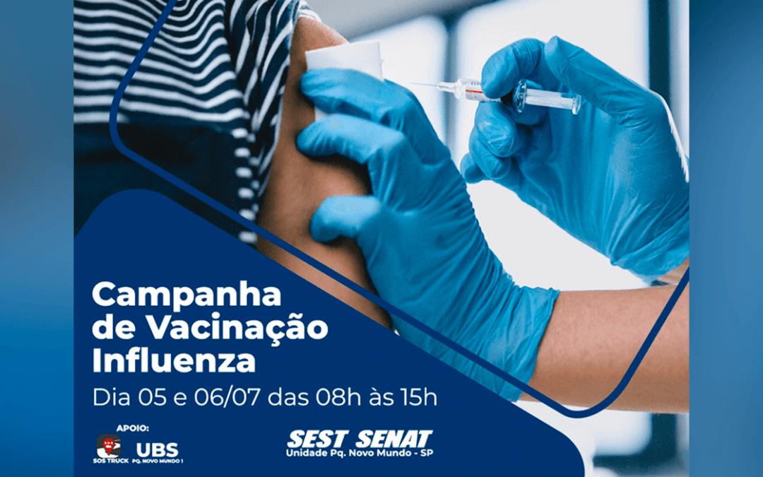 Começou a Campanha de Vacinação contra Influenza SEST SENAT