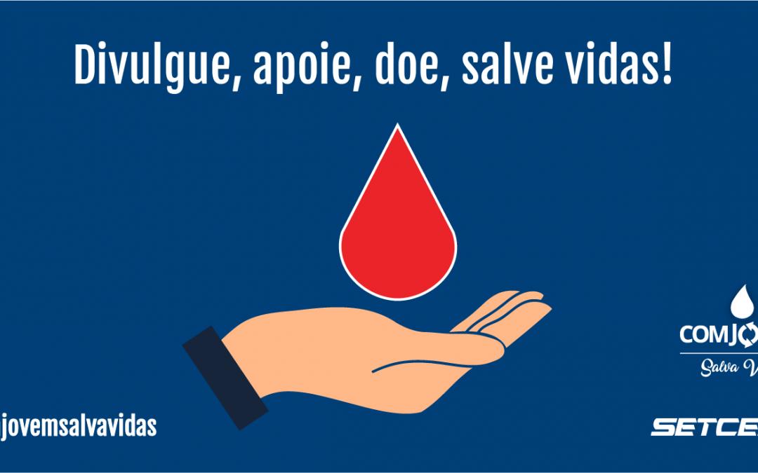 Último dia da Campanha de Doação de Sangue COMJOVEM Salva Vidas