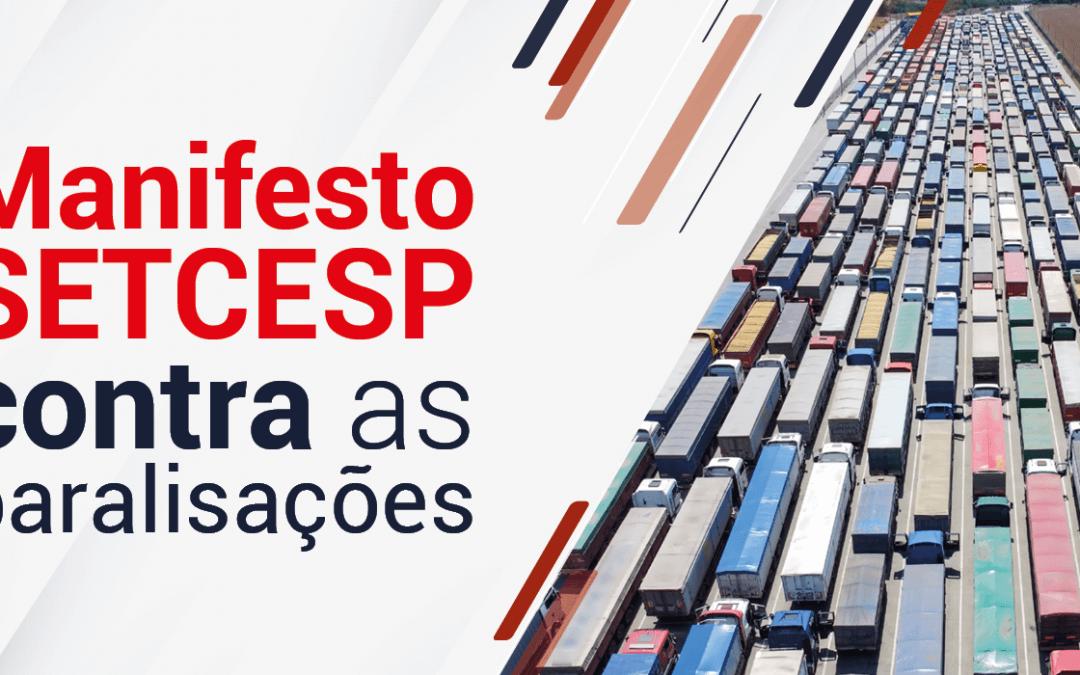 Manifesto SETCESP contra as paralisações