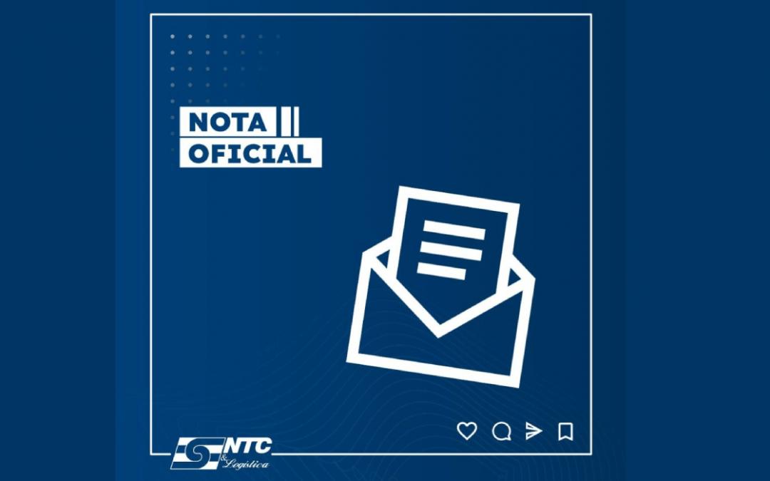 Nota de Repúdio NTC&Logística