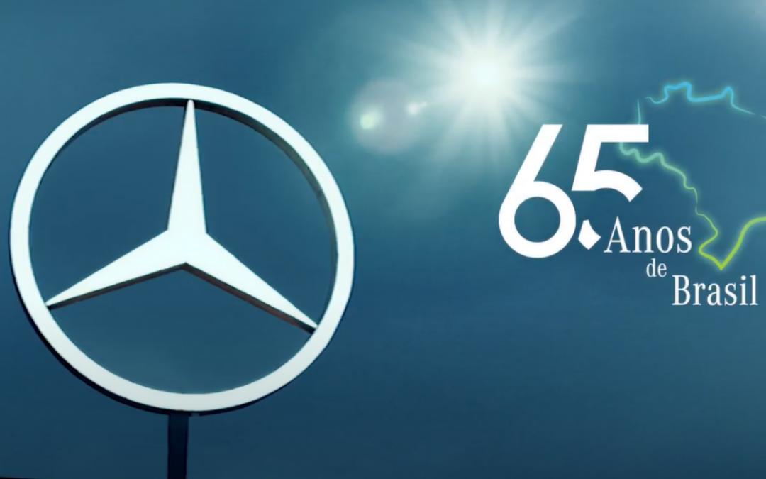 Mercedes-Benz lança vídeo em comemoração aos seus 65 anos no Brasil conectando as estrelas que fazem a marca brilhar