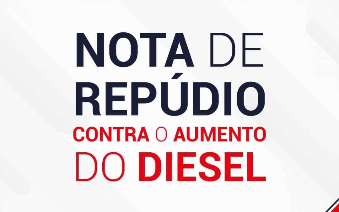 SETCESP: Nota de repúdio contra aumento do diesel