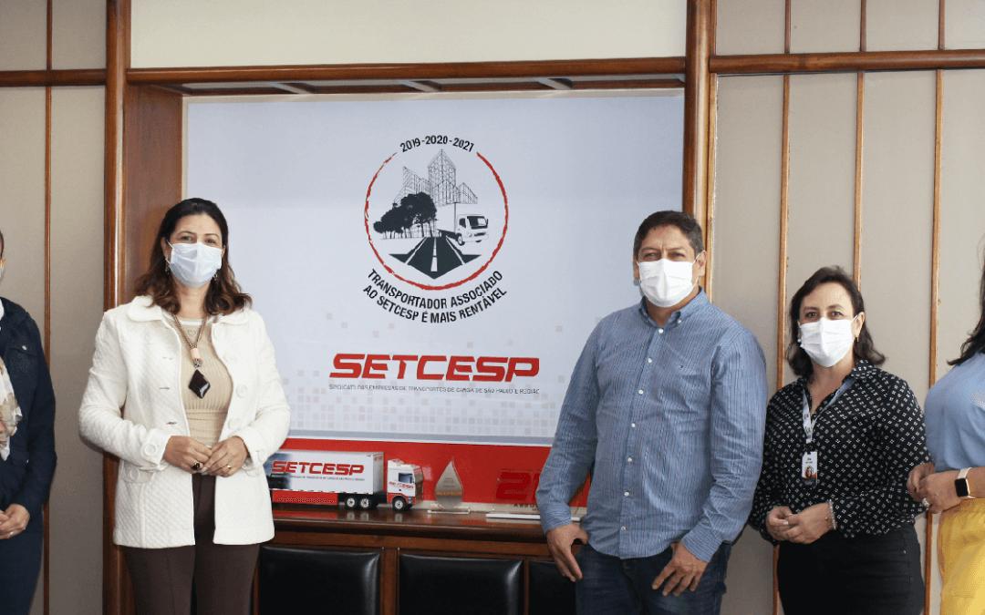 SETCESP recebe visita de representantes da Dia e Noite Transportes e Logística